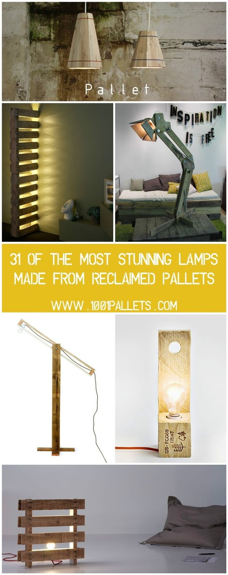 31 Of The Most Stunning Lamps Made From Reclaimed Pallets | Piques My Interest | Scoop.it