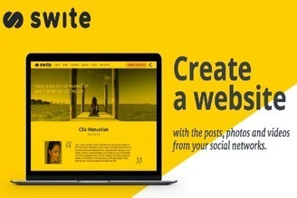 A New Cool Tool to Easily Create A Website from Your Social Media Posts ~ Educational Technology and Mobile Learning | El rincón de mferna | Scoop.it