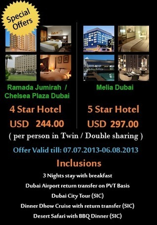 Dubai Hotel's Offers - Mzahid Travel   Holiday Packages   Scoop.it