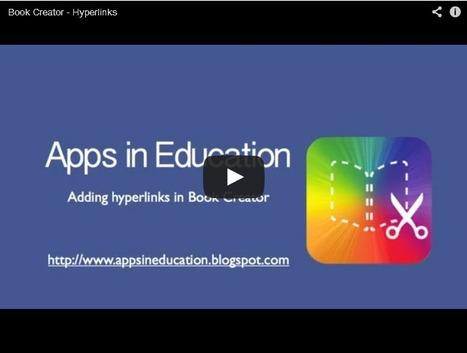 Apps in Education: Hyperlinks in Book Creator | Tech Integration in the PYP Classroom | Scoop.it