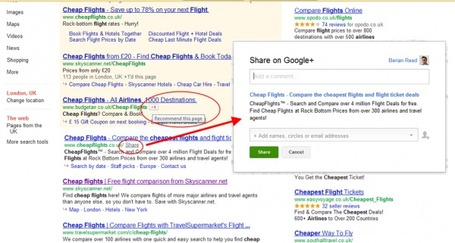 "Official: Google ""Share"" Experiment Sends Pages From Search To Google+ 