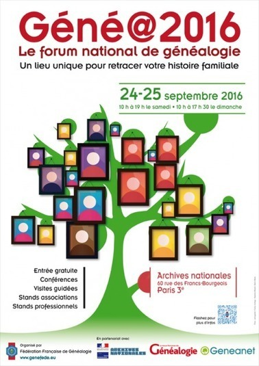 Géné@2016 s'installe aux Archives nationales | Généalogie et histoire, Picardie, Nord-Pas de Calais, Cantal | Scoop.it