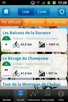 "Application mobile ""Velo 05"" pour les Hautes-Alpes 