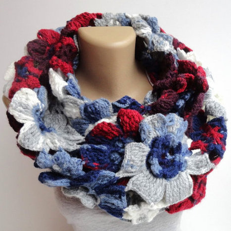 2014 Fashion scarf ,infinity Floral scarf ,new lariat scarves ,eternity . cowl,Winter ,spring ,fall fashion | scarf | Scoop.it