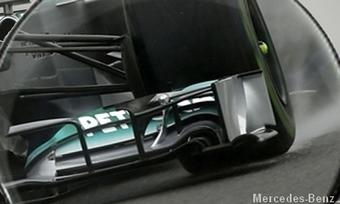 Exclu - L'aileron Vortex de la Mercedes W04 analysé à la loupe | Motorsport, sports automobiles, Formula 1 & belles voitures | Scoop.it