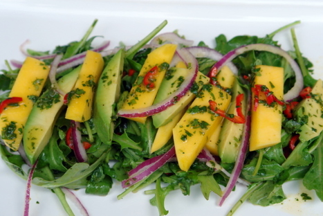Mango, avocado and arugula salad recipe | ¿Vege-Que? Healthy Recipes and Resources | Scoop.it