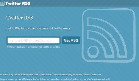 Twitter RSS - Read twitter on RSS | JOIN SCOOP.IT AND FOLLOW ME ON SCOOP.IT | Scoop.it