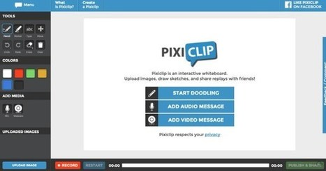 Pixiclip. Un tableau blanc en ligne pour la classe inversée | Web 2.0 et travail collaboratif | Scoop.it