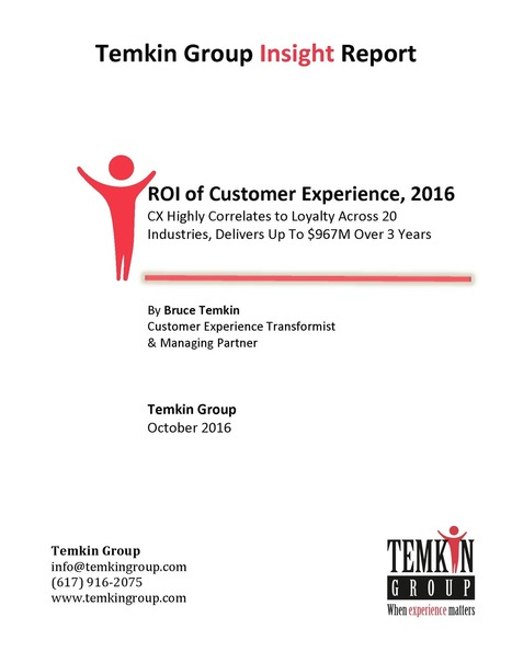 ROI of Customer Experience, 2016 | Digital healthcare and Customer Relationship | Scoop.it
