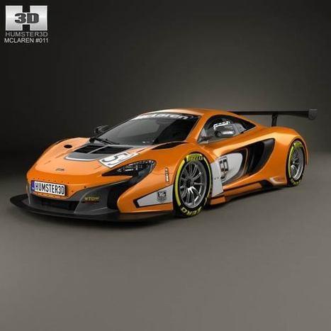 3D model of McLaren 650S GT3 2015   3D models   Scoop.it