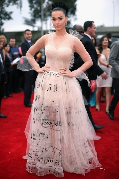 Grammys Fashion: Katy Perry Wears Valentino Music Gown - Hollywood Reporter | Fashion Inspiration | Scoop.it