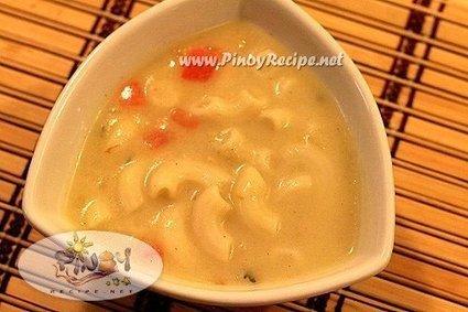 Creamy Macaroni Chicken Soup Recipe | Delicious Filipino Foods | Scoop.it