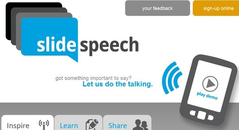 SlideSpeech, presentations with voice | El rincón de mferna | Scoop.it