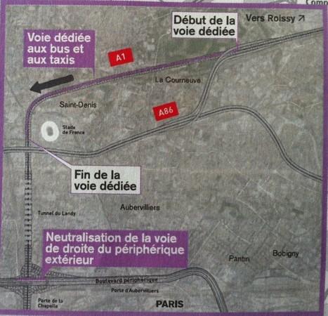 Sur l'A1, la voie dédiée aux bus et taxis «ne créera pas de CONGESTION supplémentaire» | URBANmedias | Scoop.it