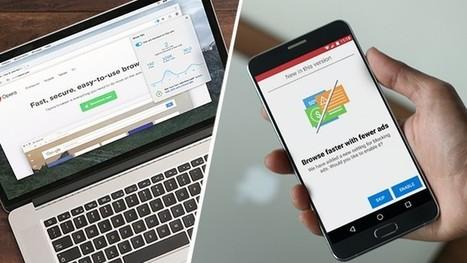 Le navigateur Opera te fait surfer sur le web sans publicité - Geek Junior - | Trucs et bitonios hors sujet...ou presque | Scoop.it
