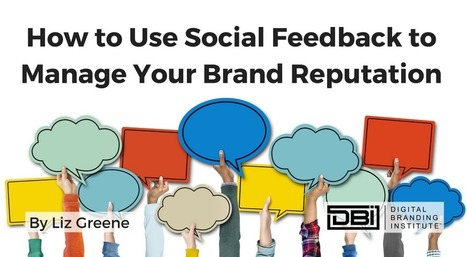 How to Use Social Feedback to Manage Your Brand Reputation » | SEO | Scoop.it