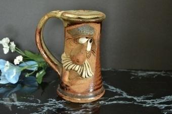 Mahon Face Mustache Cup - Folk Art Face Mug | Vintage Passion | Scoop.it