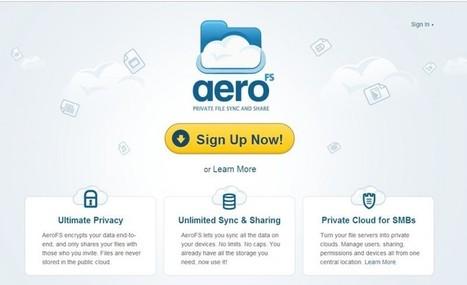 AeroFS, almacenamiento en la nube con cifrado extremo a extremo | Las TIC y la Educación | Scoop.it