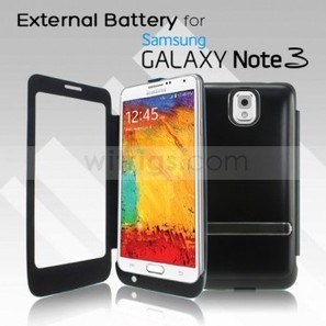4200mAh External Battery with Front Capacitive Cover for Samsung Galaxy Note 3 Black - Witrigs.com | OEM iPad Mini 2 repair parts | Scoop.it