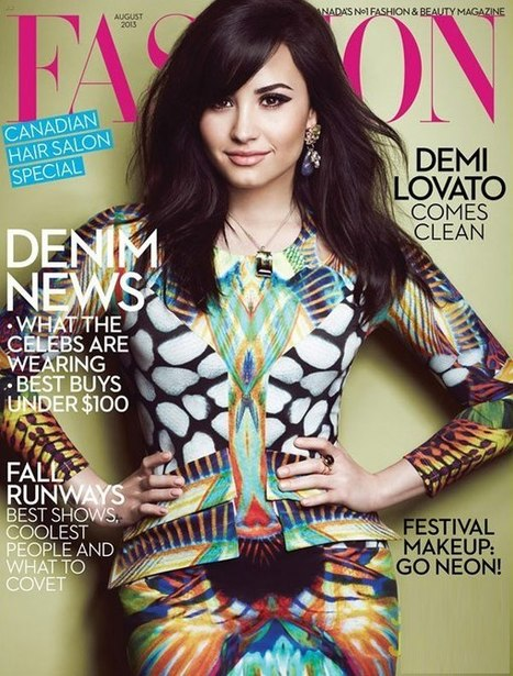 Demi Lovato Is Pretty In Prints On 'Fashion' Magazine - Hollywood Life | BlingBling | Scoop.it