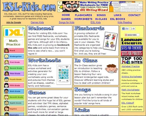 ESL-Kids - Flashcards, Worksheets, Games and Songs | Integrating Technology in World Languages | Scoop.it