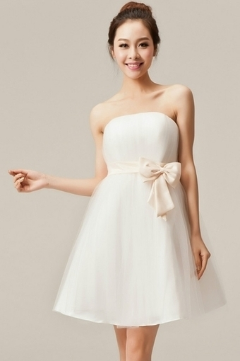 Sweet Strapless Tulle Mini Dress With Bow Detail - OASAP.com | Sweet Lolita | Scoop.it
