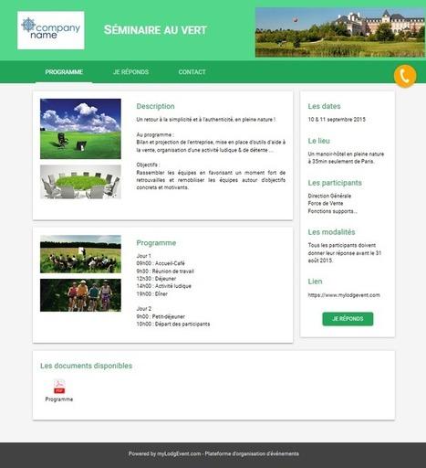 L'inscription en ligne pour vos événements d'entreprise - myLodgEvent.com | Au cœur de l'Evénementiel | Scoop.it