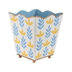 Foliage Blue Square Cachepot | Best Collection of Home Decor | Scoop.it