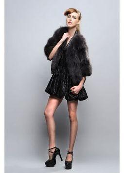 Women's Furs :: Fur Jackets :: Fox :: Blue Fox Fur Jacket With V Collar - | furs | Scoop.it