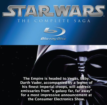 Star Wars Blu-ray to get a 'most impressive' announcement at CES from Vader, Fox & Panasonic | All Geeks | Scoop.it