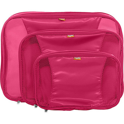 baggallini Compression Packing Cubes set of 3 Pink - baggallini Lightweight packable expandable bags | I love designer handbags | Scoop.it