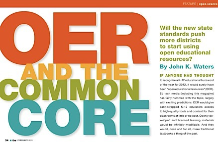 Open Education Resources and the Common Core (THE Journal February 2013) | Digital Learning Process | Scoop.it