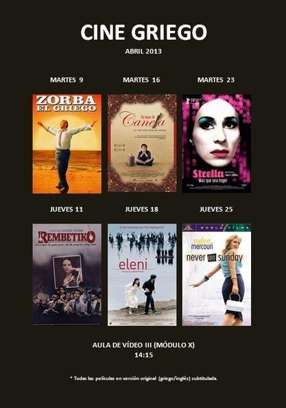 Ciclo de cine griego - Griego Moderno en la UAM | AURIGA | Scoop.it