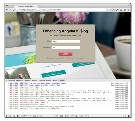 Enhancing AngularJS Logging using Decorators | The Solution OptimistThe Solution Optimist | Angularjs | Scoop.it