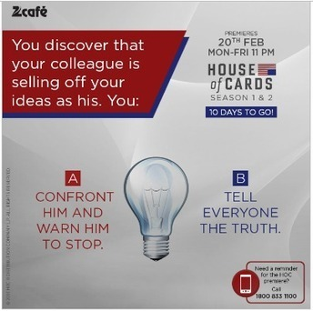 Social Media Campaign Review : How Zee Cafe Spread Awareness About Premiere of House of Cards | Digital-News on Scoop.it today | Scoop.it