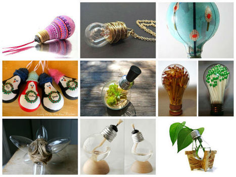 Ideas originales para el reciclaje de bombillas tradicionales | tecno4 | Scoop.it