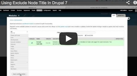 Using Exclude Node Title In #Drupal 7   exclude node title   Scoop.it