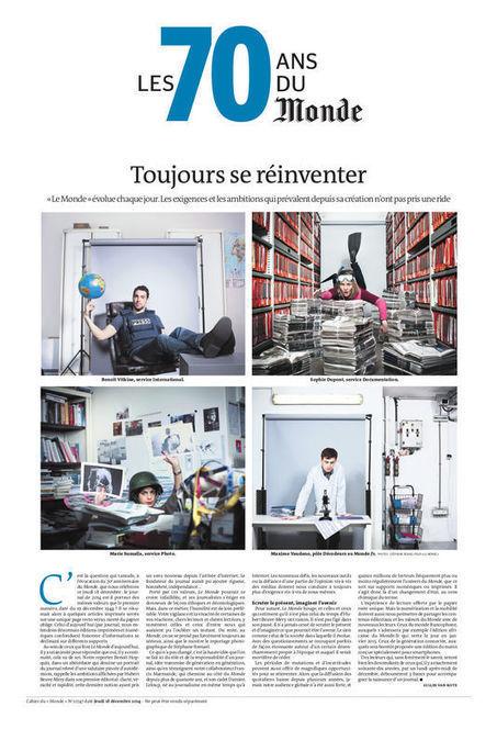 Les 70 ans du «Monde» : toujours se réinventer   Le Monde   Liseuses, ebook, lecture et education   Scoop.it
