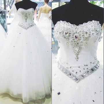 Robe de mari e princesse en strass swaro - Robe de mariee strass ...
