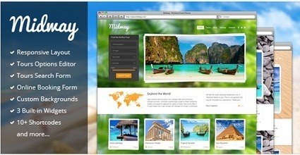 12 Beautiful WordPress Themes For Travel Websites | Web Development Tutorials and Resources @ ScratchingInfo | ScratchingInfo Web Development Tutorials and Resources | Scoop.it