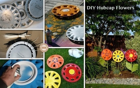DIY Hubcap Flower | Up cycle car boot finds | Scoop.it