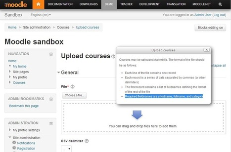 Bulk Upload of Courses for Moodle 2.6 | Moodling Around | Scoop.it