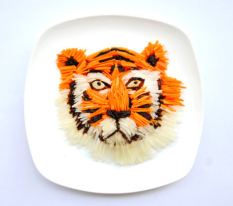Photography - Artist Hong Yi Plays with her Food for 30 Days | The brain and illusions | Scoop.it