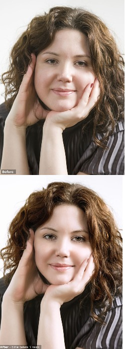 Before and after using fast and easy photo editing software | Portrait Professional | Scoop.it