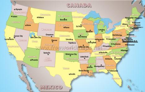 us-political-map-big.jpg (1500x956 pixels)   PERSIA North America   Scoop.it