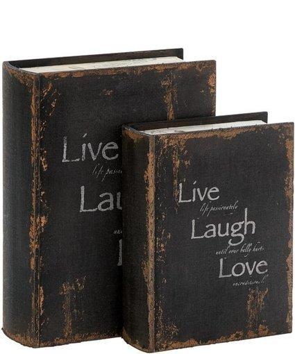 Uma Enterprises Set Of 2 Decorative Wood Book Box | Home - Office Accessories | Scoop.it