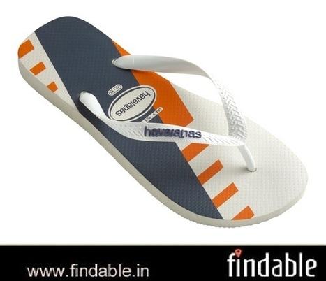 Buy Trend White/Tangerine Rubber Footwear | Fashion Accessories | Scoop.it