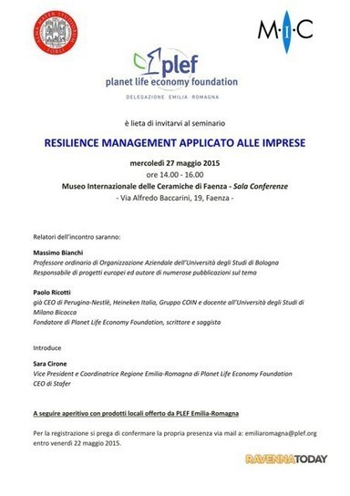 Faenza per il Resilience Management applicato alle imprese | Resilienza | Scoop.it