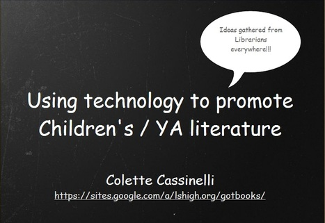 Using technology to promote YA literature | Resources and Tools for EFL Teachers | Scoop.it