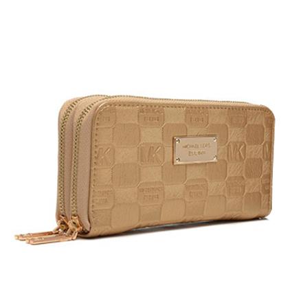 Affordable Michael Kors Jet Set Double Zip Around Large Gold Wallets at Prettybagoutlet | Disconut Michael Kors bag outlet online | Scoop.it
